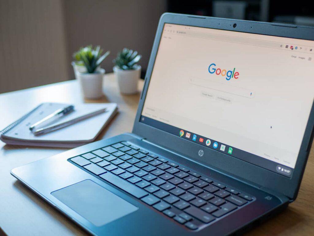 Zie jij het verschil tussen een normale laptop en deze Chromebook?