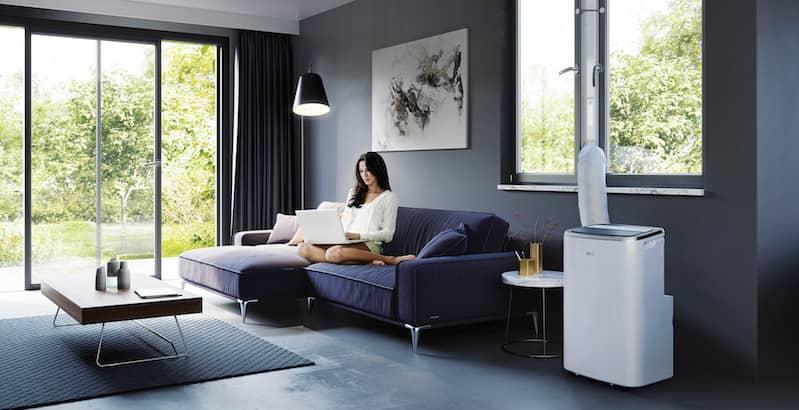 Je kunt een mobiele airco kopen voor in de woonkamer, slaapkamer of kantoor.