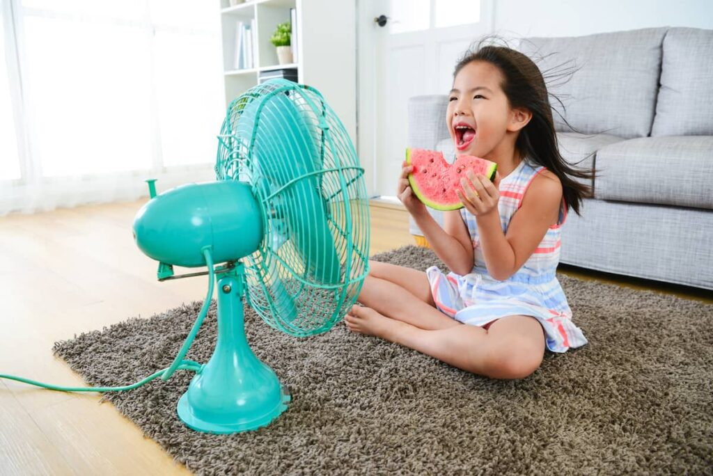Ventilator voor verkoeling in huis